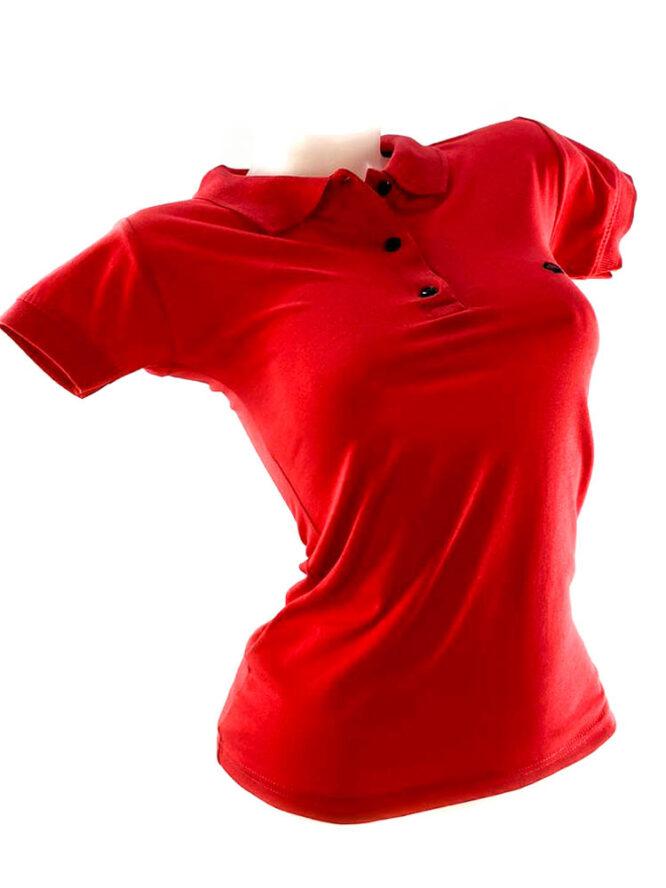 tricou damă polo corai din bumbac,