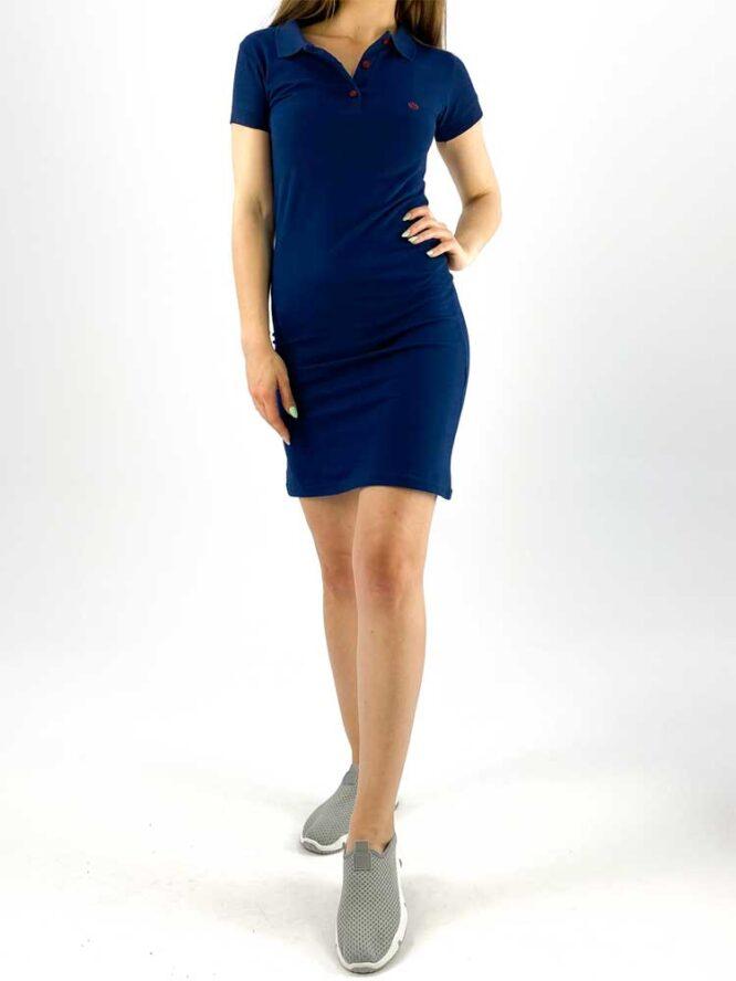rochie damă polo bleumarin din bumbac
