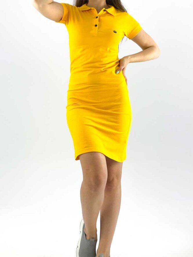 rochie damă polo galbenă din bumbac