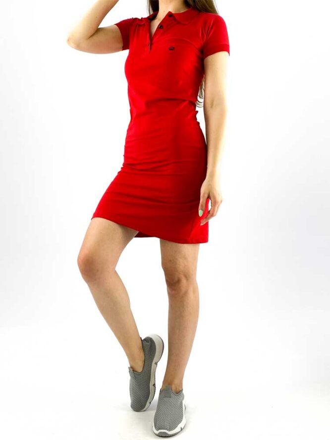 rochie damă polo roșie din bumbac