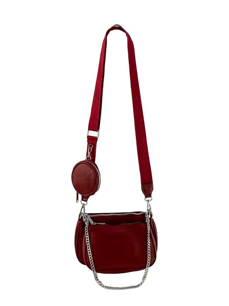 set genți roșii damă cu portofel