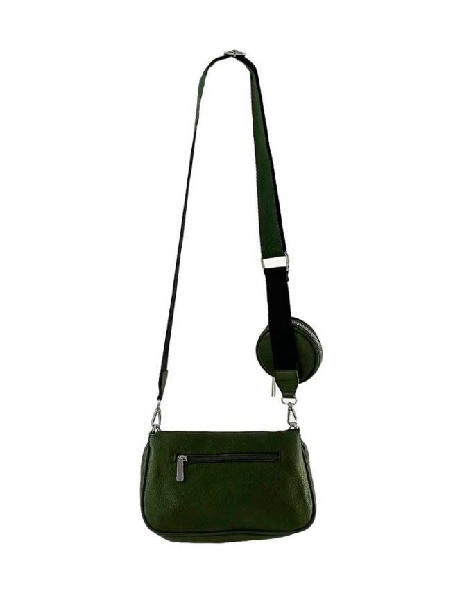 set genți verzi damă cu portofel